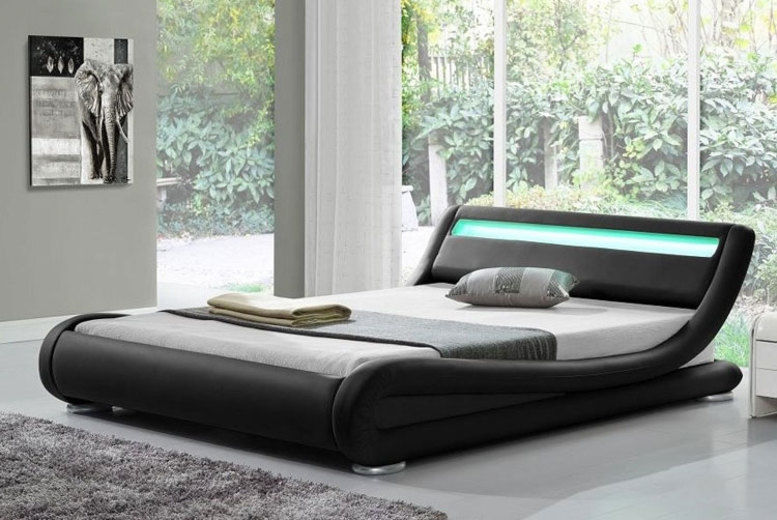 Rio LED Bed w/ Optional Mattress - 4 Colours & 3 Sizes!