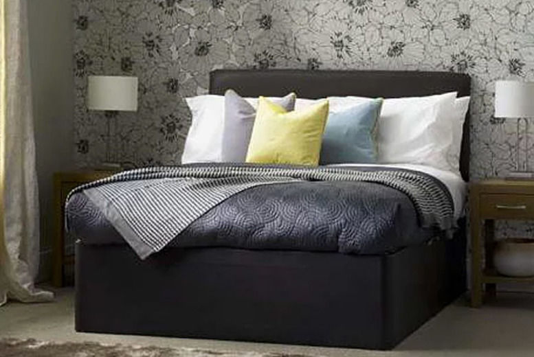 Leather Divan Bed w/ Mattress - 5 Sizes & 2 Colours!