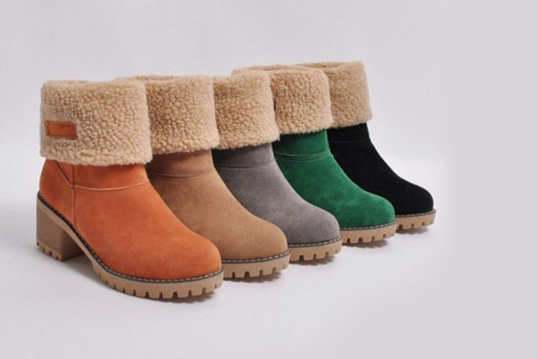 where can i buy temperament shoes later Faux Fur Heeled Ankle Boots | Shop | Wowcher