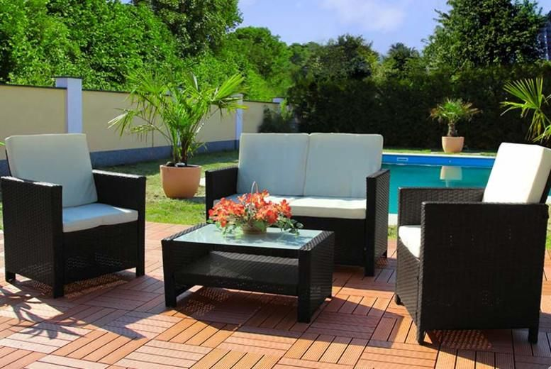 4pc Rattan Miami Garden Set – 3 Colours! (£229)