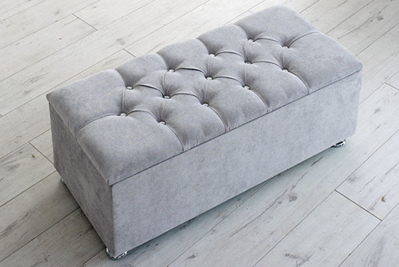Chesterfield Ottoman Storage Box - 2 Button Options & 5 Colours!