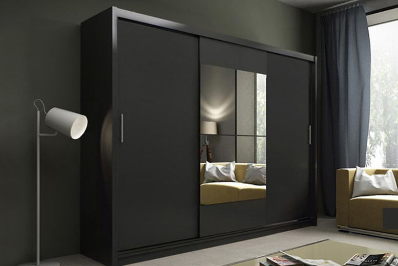 Kier Free Standing Wardrobe with optional LEDs – 2 Colours!