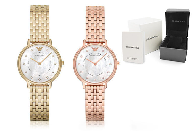 Ladies Emporio Armani Gold & Rose Gold Tone Watches - 2 Colours!