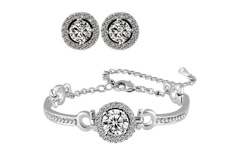 crystal-halo-bracelet-earring-set