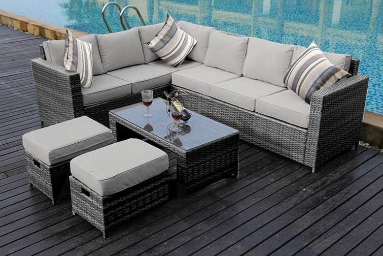 8-Seater Rattan Outdoor Sofa Set - 3 Colours & Rain Cover Option!