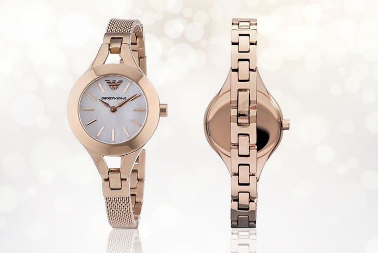 Rose Gold Emporio Armani AR7329 Ladies' Watch