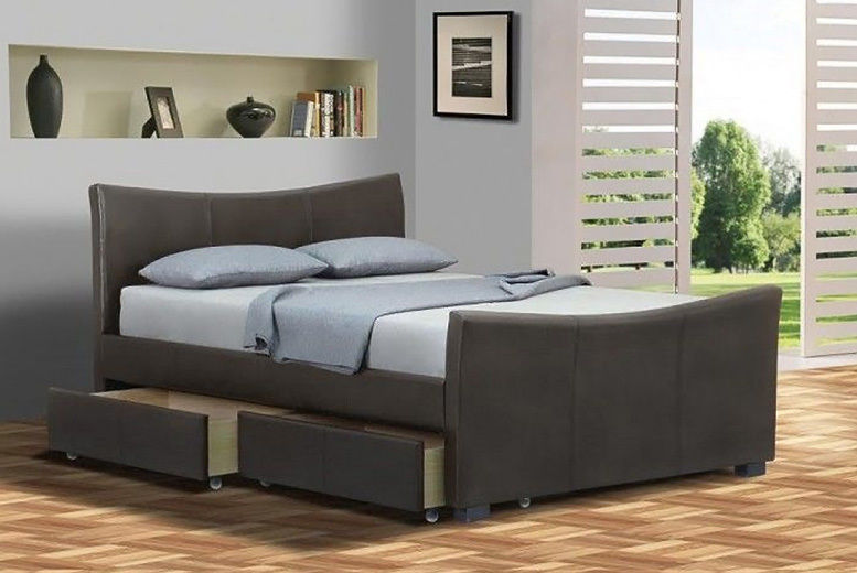 4-Drawer Barcelona Bed w/ Optional Mattress - 2 Sizes & 2 Colours!