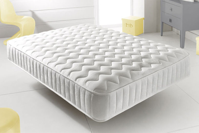 Memory Foam Topped Spring Mattress - 6 Sizes!