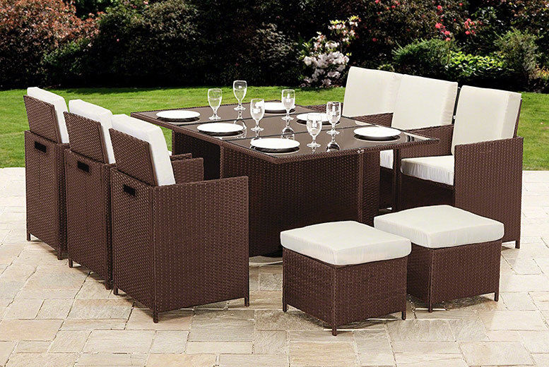 10-Seater Cube Rattan Garden Furniture Set – 2 Colours! (from £339)