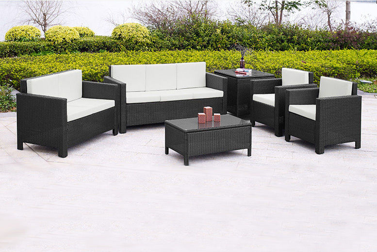 7-Seater Rattan Garden Furniture Large Sofa Set