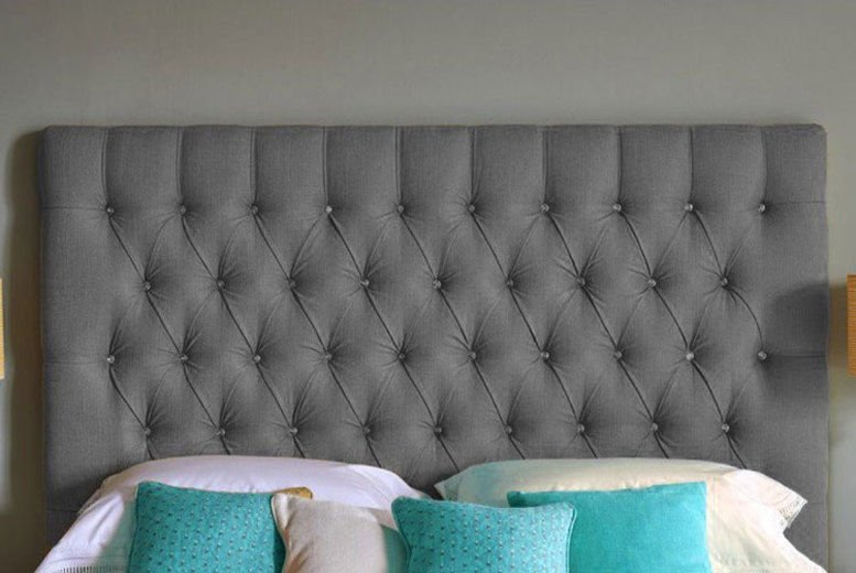 Chesterfield Turin Fabric Headboard - 6 Sizes & 5 Colours!