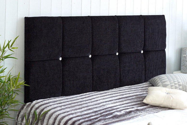 Chenille Fabric Headboard - 6 Sizes and 8 Colours!