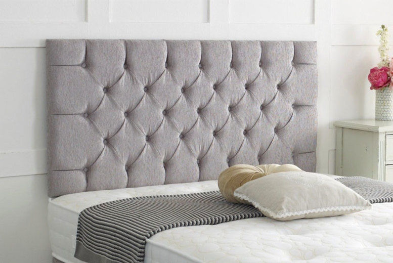 Chesterfield Chenille Headboard - 6 Sizes & 8 Colours!