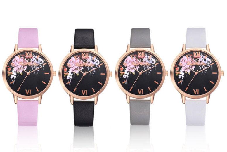 Floral Quartz Wrist Watch – 4 Colours!