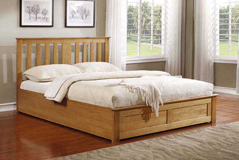 Carlito Wooden Ottoman w/ Optional Mattress - 2 Sizes & 2 Colours!