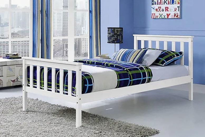 White Pine Wood Bed Frame - 3 Sizes!