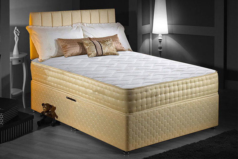 Luxury Memory Foam Gold-Threaded Bio-Natural Mattress – 5 Sizes (from £79)