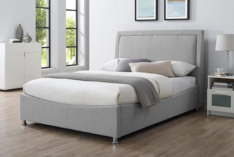 Double or King Ottoman Fabric Bed w/ Mattress Options!