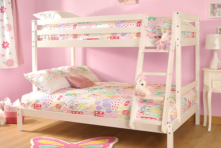 Triple Wooden Bunkbed - 2 Options and 3 Colours!
