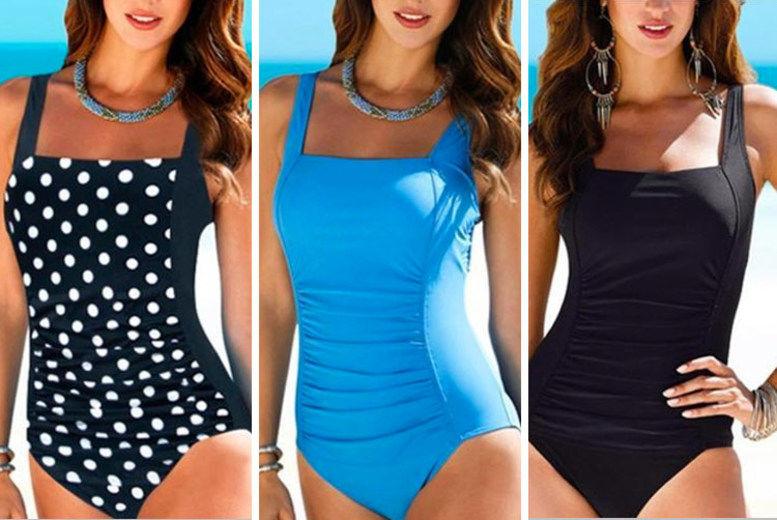 2019 Womens Swimdress One Piece Bathing Swim Dress Beach Swimwear UK Size 12-20