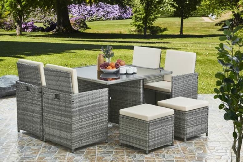 9pc Rattan Garden Dining Set Garden Furniture Deals In Galway
