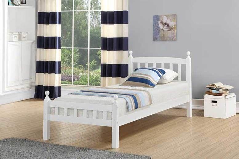 Jennifer Wooden Bed Frame - 2 Sizes & Optional Mattress!