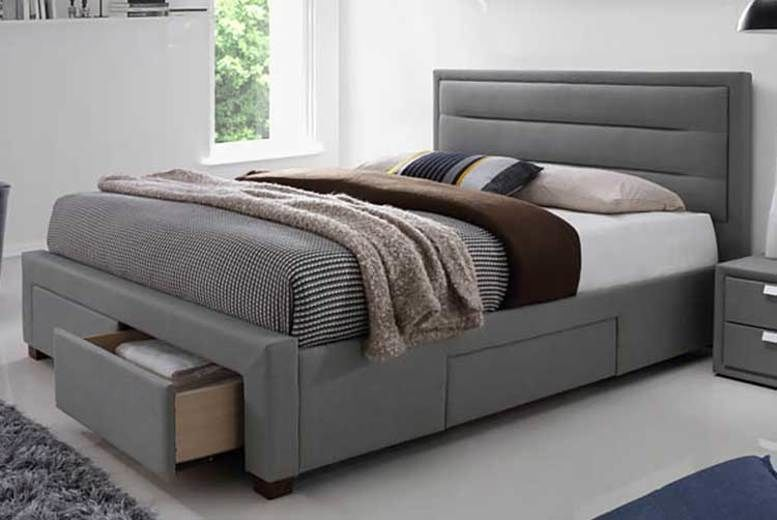 Four-Drawer Fabric Bed with optional mattress!