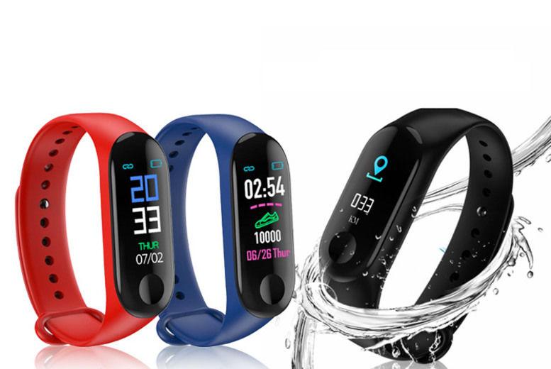 Smart Watch w/ Colour Screen - 3 Colours!