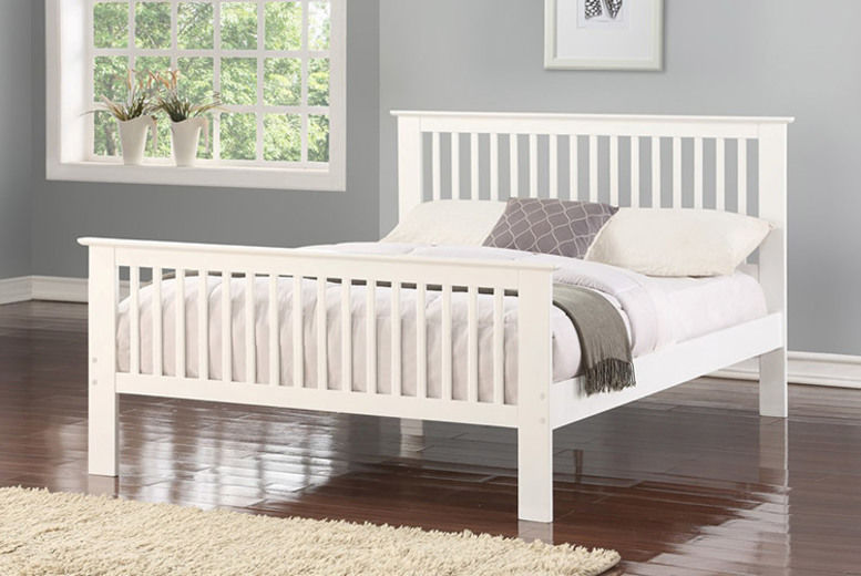 Howard Wooden Bed Frame with Optional Mattress - 2 Colours!