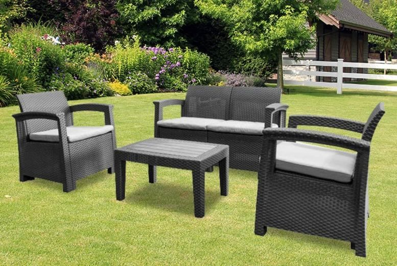 4-Seater Ashby Rattan Garden Furniture Set