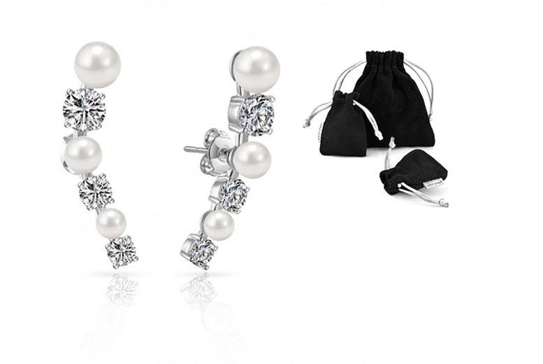 ca2a155e8ea9e Shell Pearl Climber Earrings | Earrings deals in Southampton | Wowcher