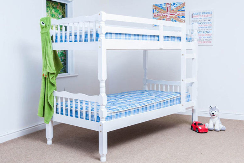 Pine Single Bunk Bed - 2 Colours!