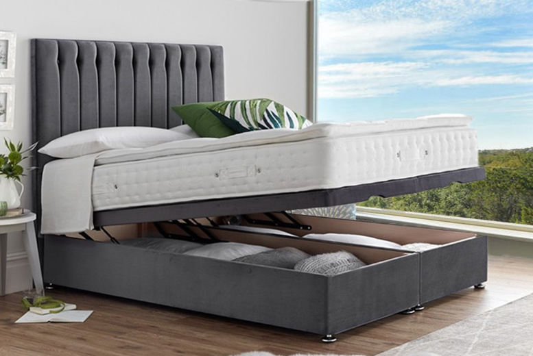 Ottoman Divan Bed with Optional Mattress - 5 Sizes & 8 Colours!