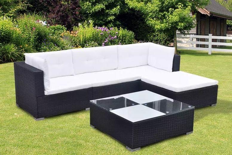 5-Seater Rattan Garden Furniture Set – 3 Colours! (£269)