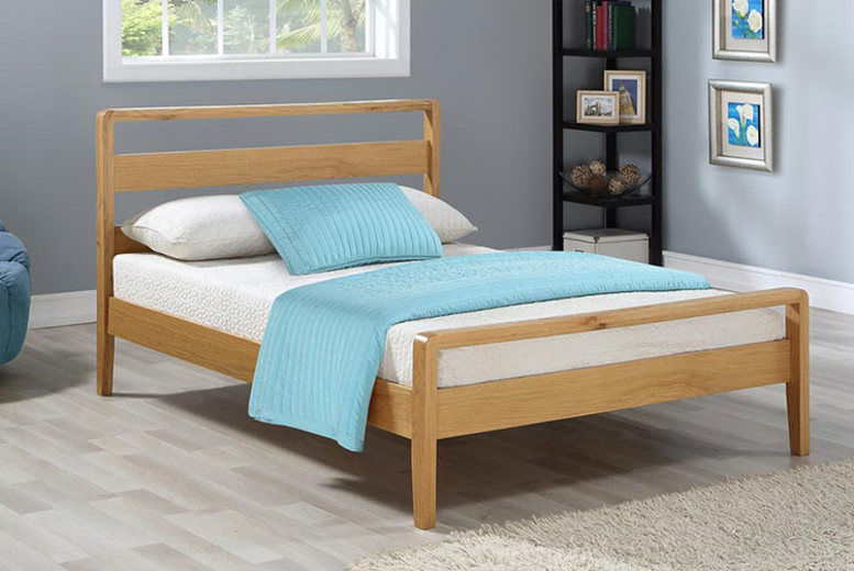 Swiss Contemporary Bed with Optional Mattress - 2 Colours!