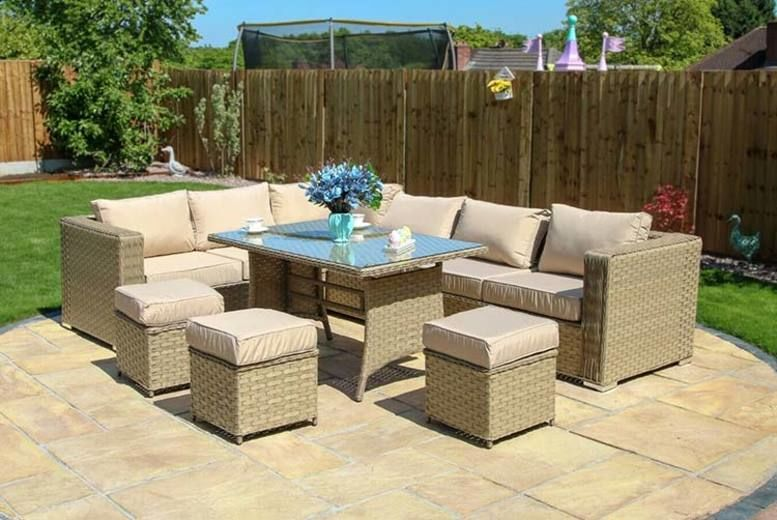 Papaver 9pc Rattan Corner Sofa Set