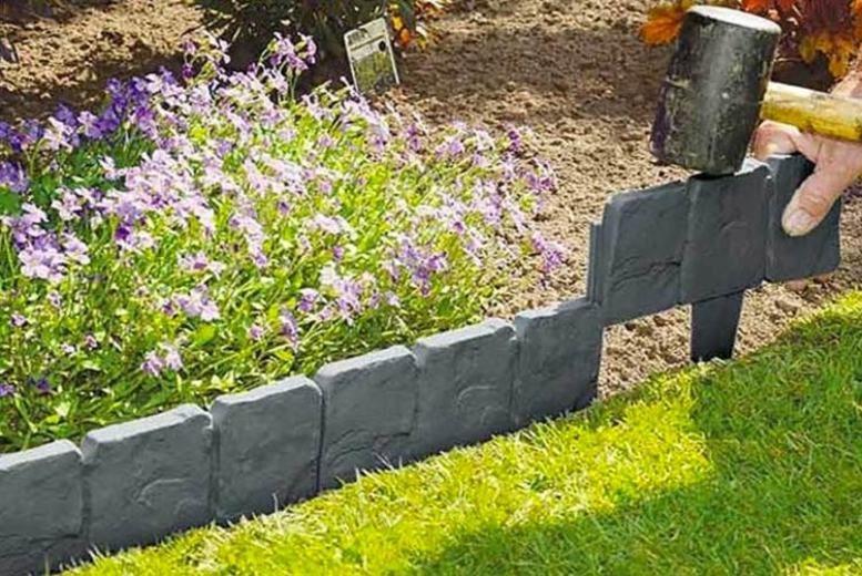 Cobble Garden Edging Deals In, How To Stone Garden Border