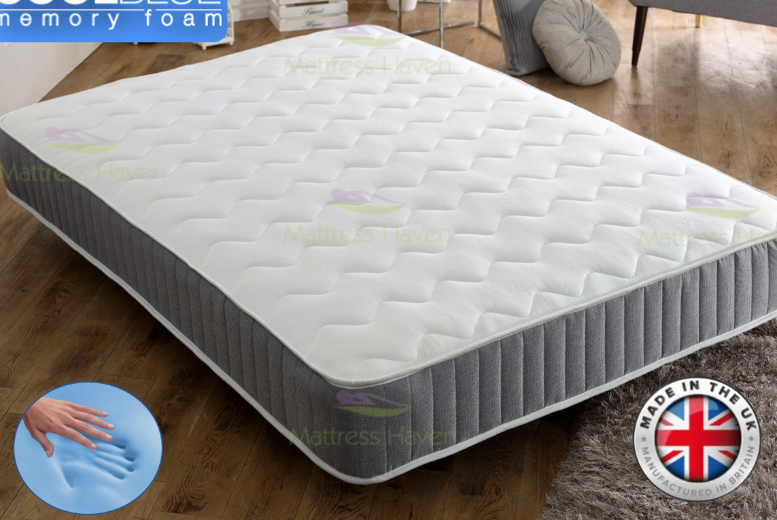 Cool-Blue Memory Foam Mattress - 4 Sizes!