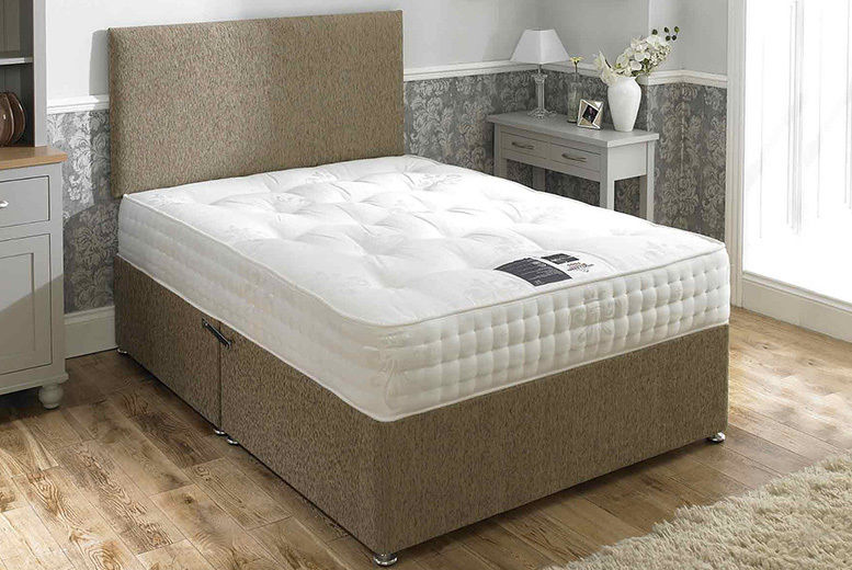 Mink Pocket Sprung Divan Bed - 6 sizes with Optional Drawers!