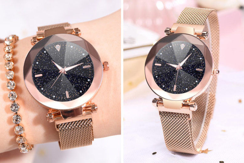 Stardust Ladies' Watch w/ Magnetic Mesh Bracelet - 6 Colours