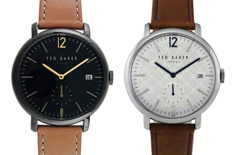 Men's Ted Baker Brown Leather Watch - 2 Designs!