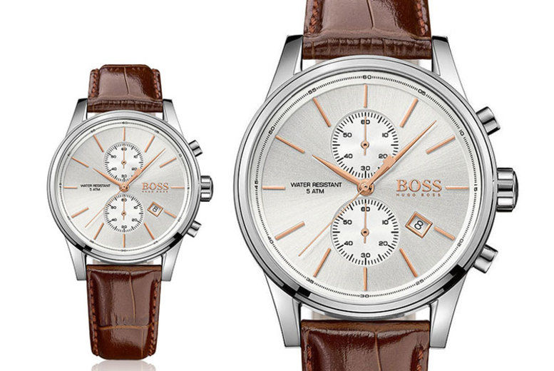 Hugo Boss HB1513280 Men's Jet Brown Leather Chronograph Watch
