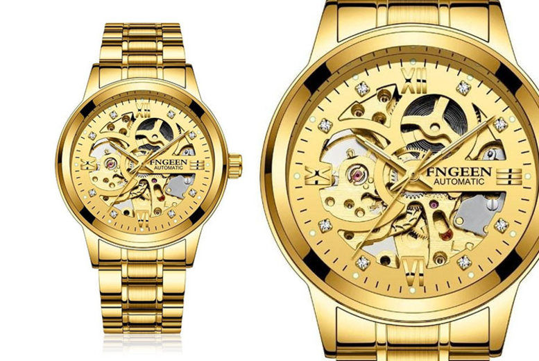 Men's Gold Luxury Automatic Watch