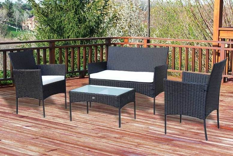 4-Seater Rattan Garden Furniture Set (£94)
