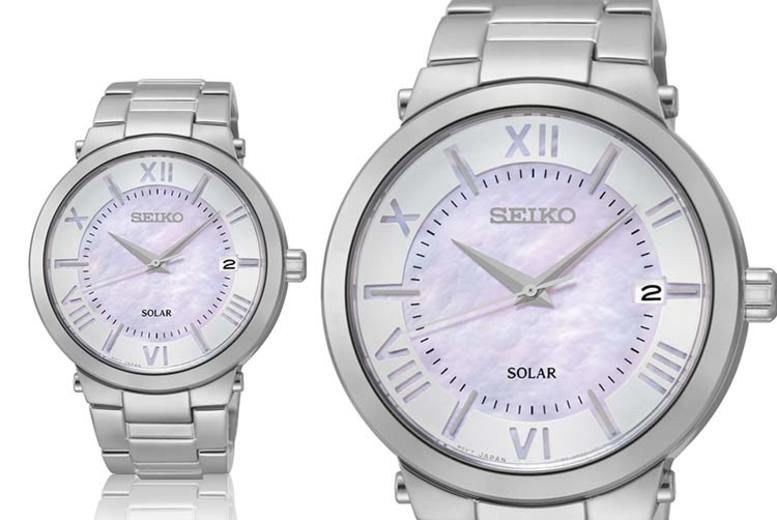 Ladies' Seiko SNE885 Silver Sport Watch