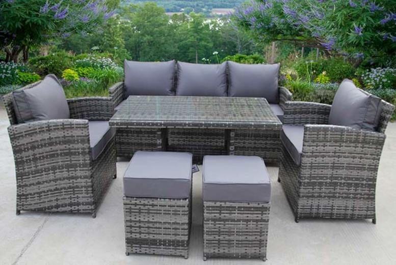 7-Seater Rattan Garden Furniture Set – 2 Colours! (£529)