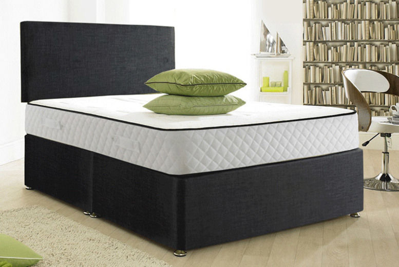 Cool Blue 1500 Pocket Memory Divan Bed Set with optional drawers!