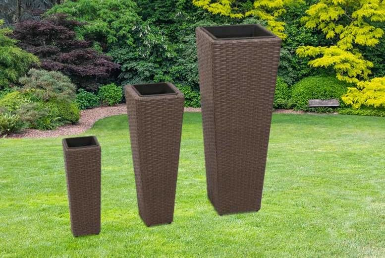 3 x Rattan Flower Pots - 2 Colours!