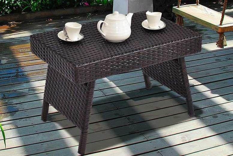Folding Rattan Coffee Table (£32.99)