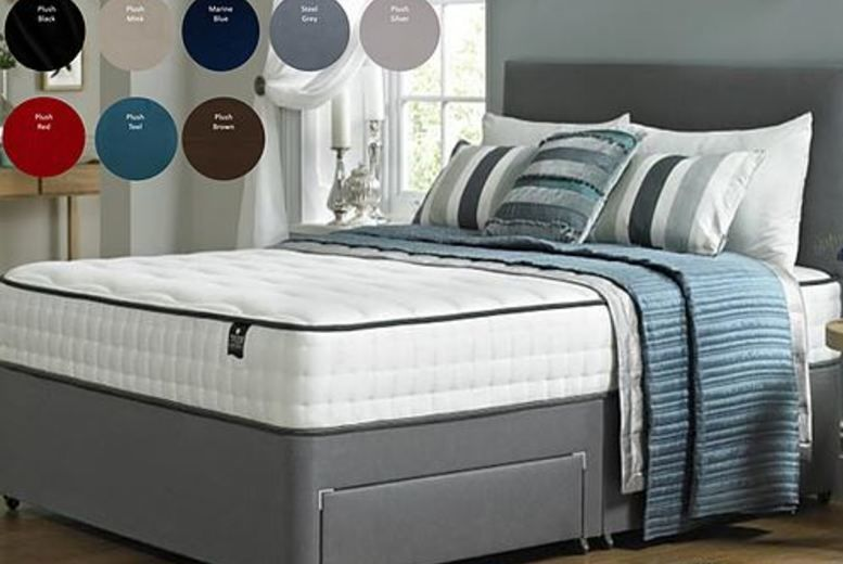 Divan Bed with Plain Headboard - 4 Sizes & Drawers Options!